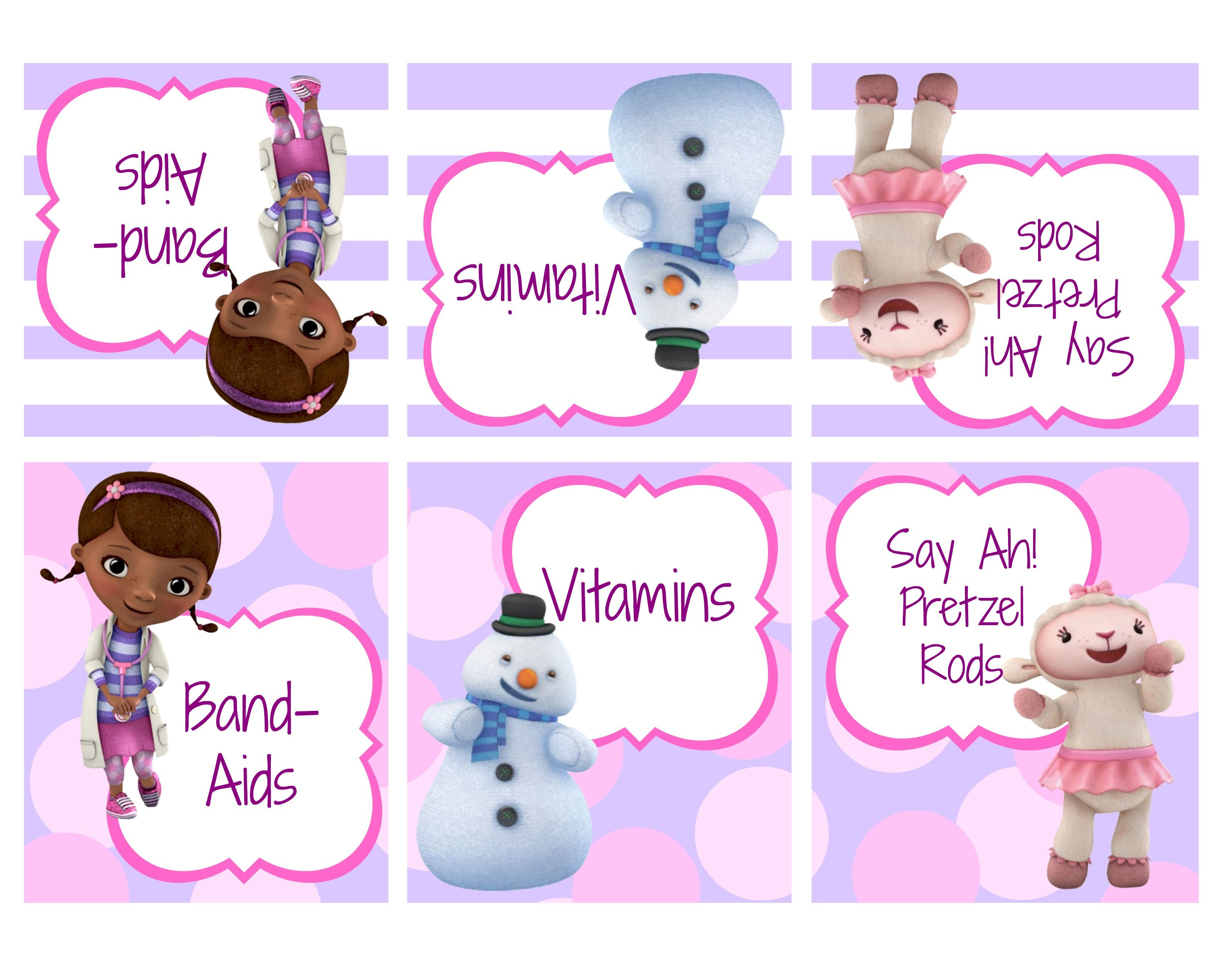 It is a graphic of Decisive Doc Mcstuffins Party Printables