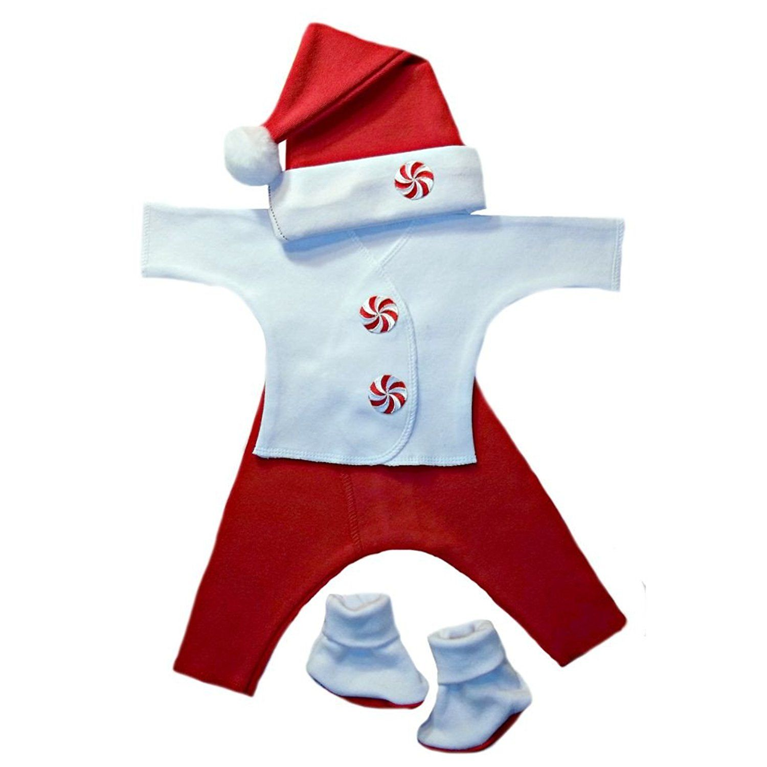 06288cd8e Jacqui's Unisex Baby Red Peppermint Candy Clothing Set, Small Newborn