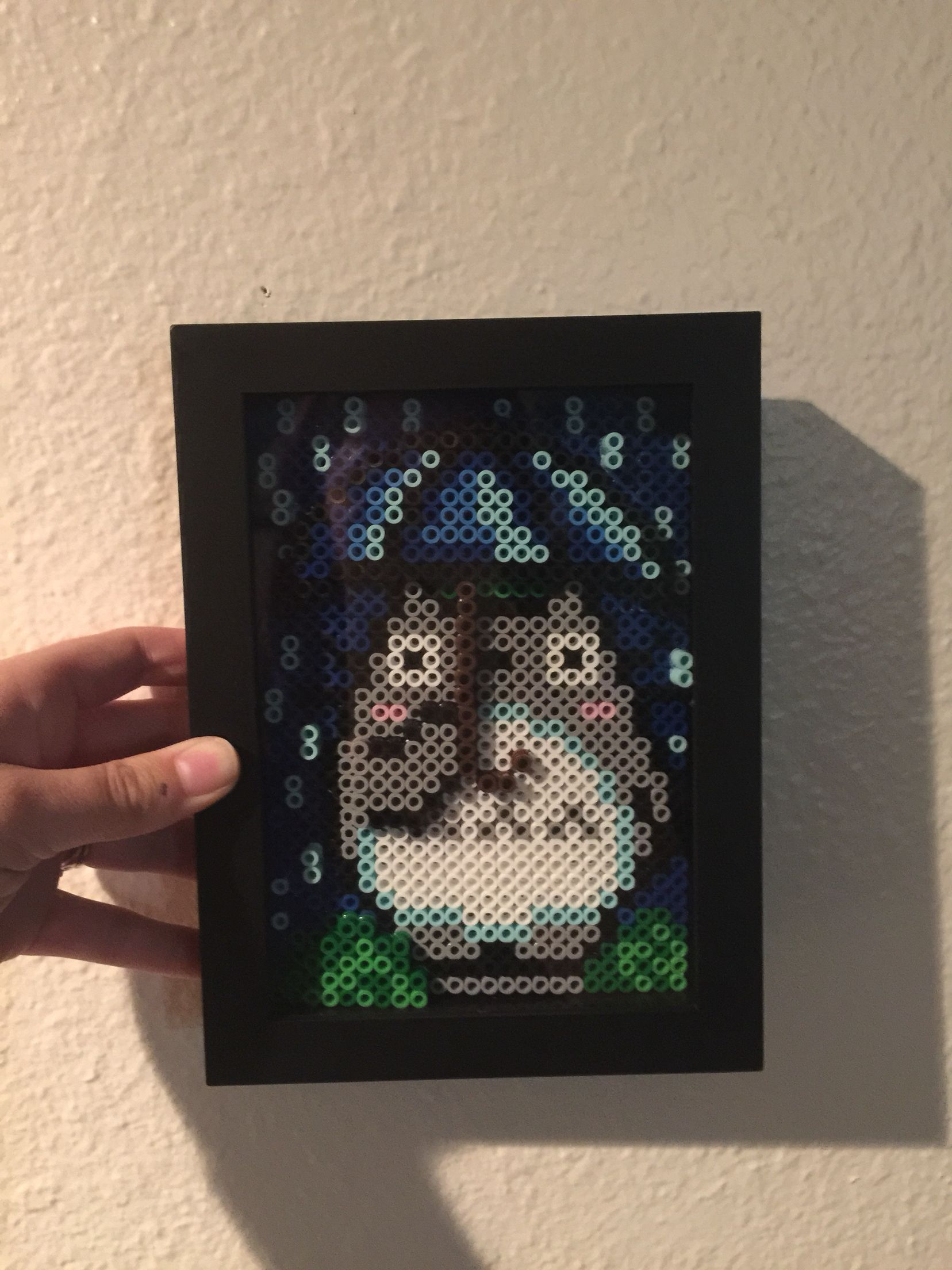 3D Totoro perler bead frame | Things I've Made | Perler
