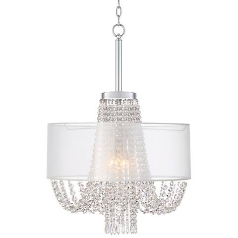 Mirinda 22 wide chrome 4 light crystal chandelier 1f041 lamps mirinda 22 wide chrome 4 light crystal chandelier 1f041 lamps plus mozeypictures Image collections