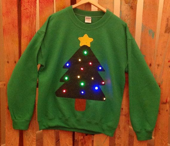 Lightup Christmas sweater by WinsumDesign on Etsy, $45.00 -- like, it  lights up!! - Lightup Christmas Sweater By WinsumDesign On Etsy, $45.00 -- Like