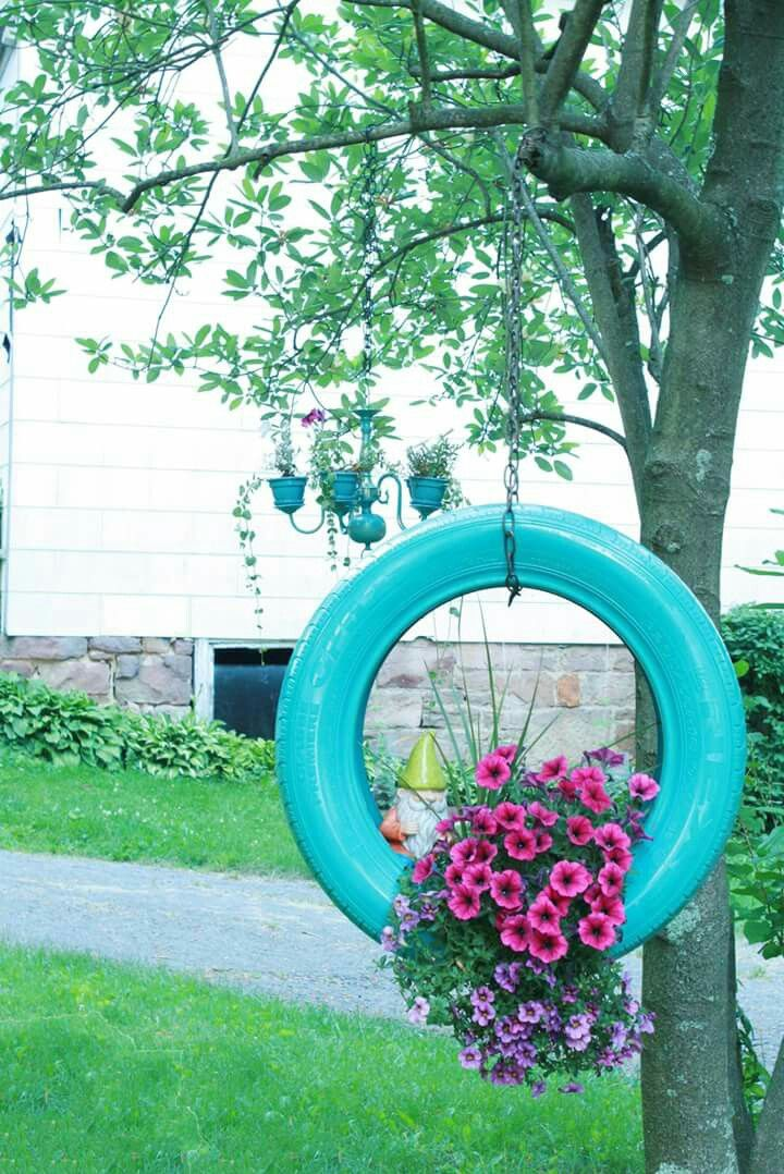 Tire Swing Planter My Secret Garden Tire Garden Cute Garden