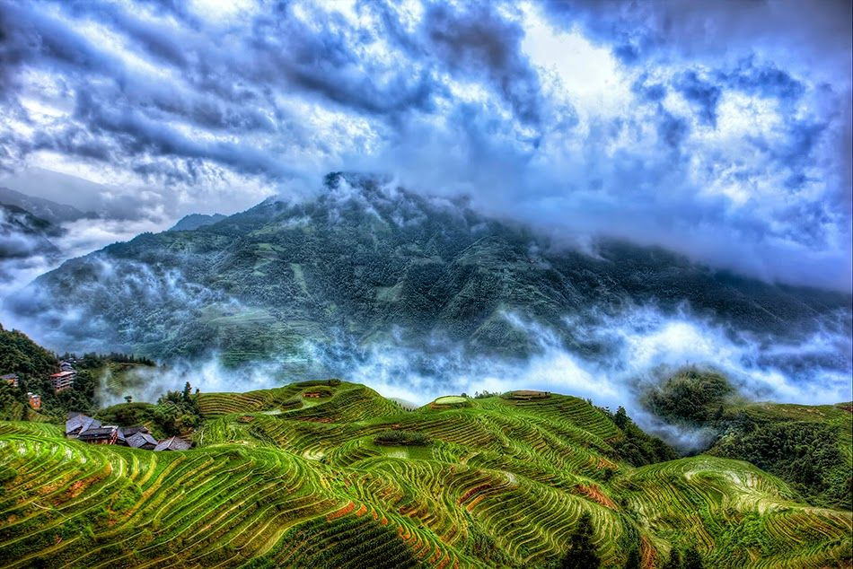 مجموعه من الصور الساحره لاجمل المناظر الطبيعيه بالصين ـ صور تدل على عظمة الخالق ـ حقا انها روائع الطبيعه World Photo Landscape Rice Terraces