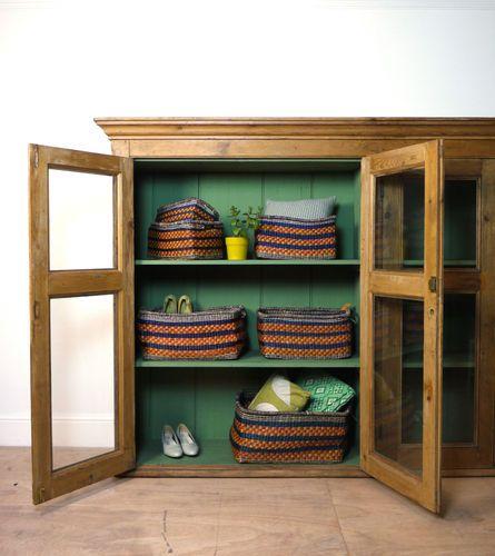 Handmade Rectangular Zulu Basket Large U0026 Small Storage Hampers Shoes Toys  Linen