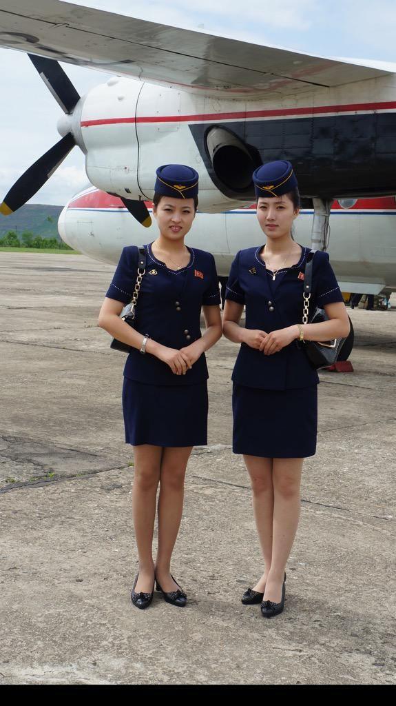 Air Koryo Stewardess On Plane Girls With Charm Flight