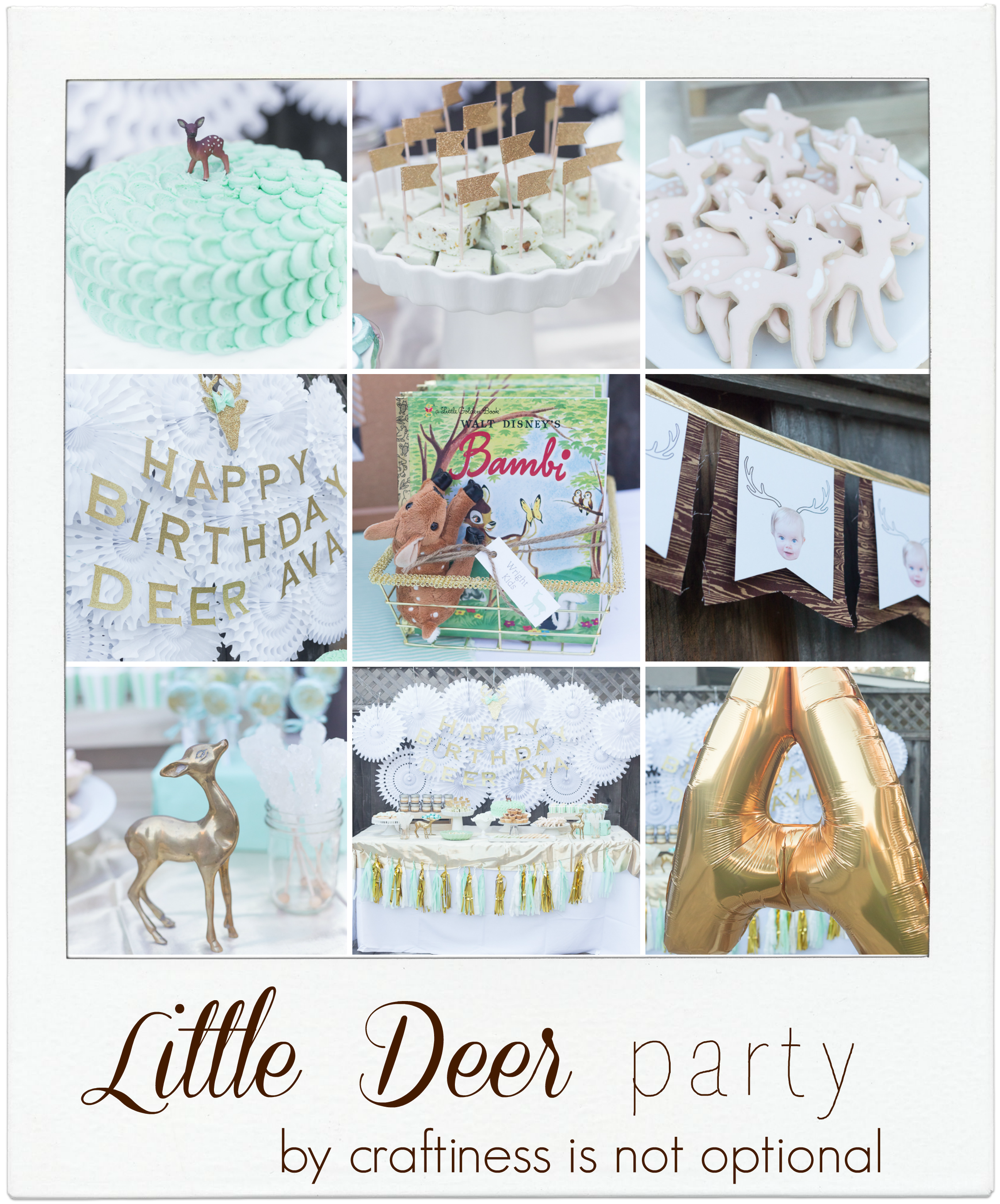 Mint and green deer party by craftiness is not optional - Beautiful sweets table!