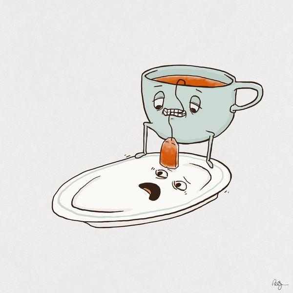 i want this in my kitchen. Tea Baggin' Art Print