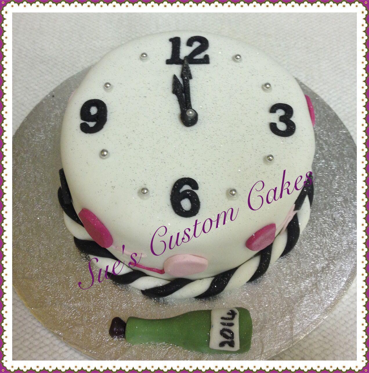 New Years countdown cake Clock cake, celebrate. Tort