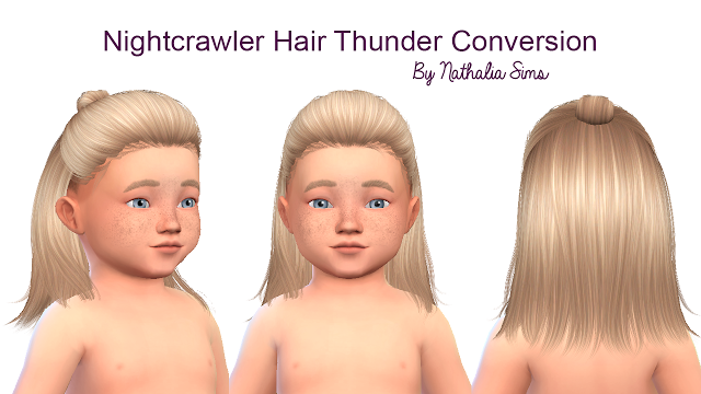 Sims 4 cc toddler girl hair