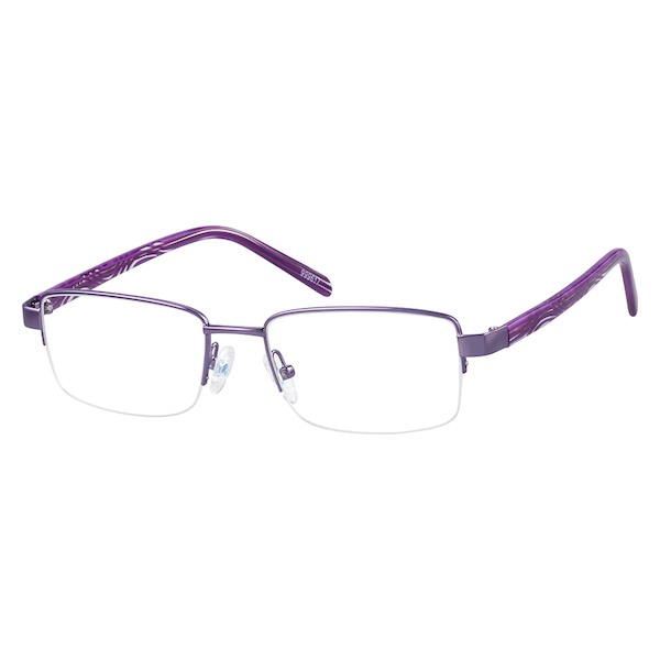 a8ceeeb78ce08 999617 Stainless Steel Half-Rim Frame with Acetate Temples (Variable  Dimension w  s 3996
