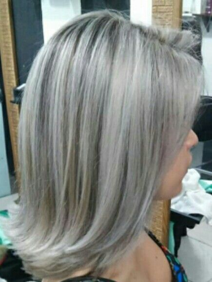 Mechas Platinadas Brown Hair With Silver Highlights