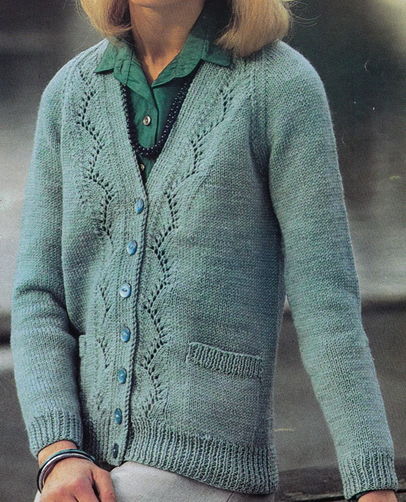 Vintage Knitting Pattern Instructions to Make a Ladies Cardigan in ...