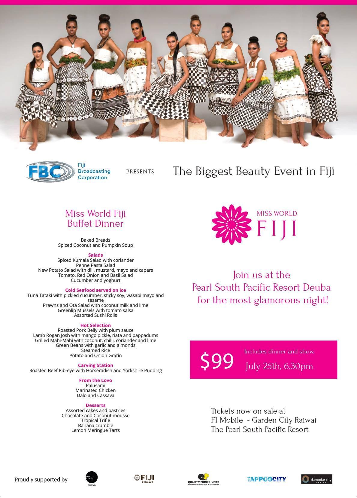 Miss World Fiji The Final On July 25th At The Pearl South Pacific Resort In Deuba Potato Salad Mustard Cucumber Onion Salad Miss World