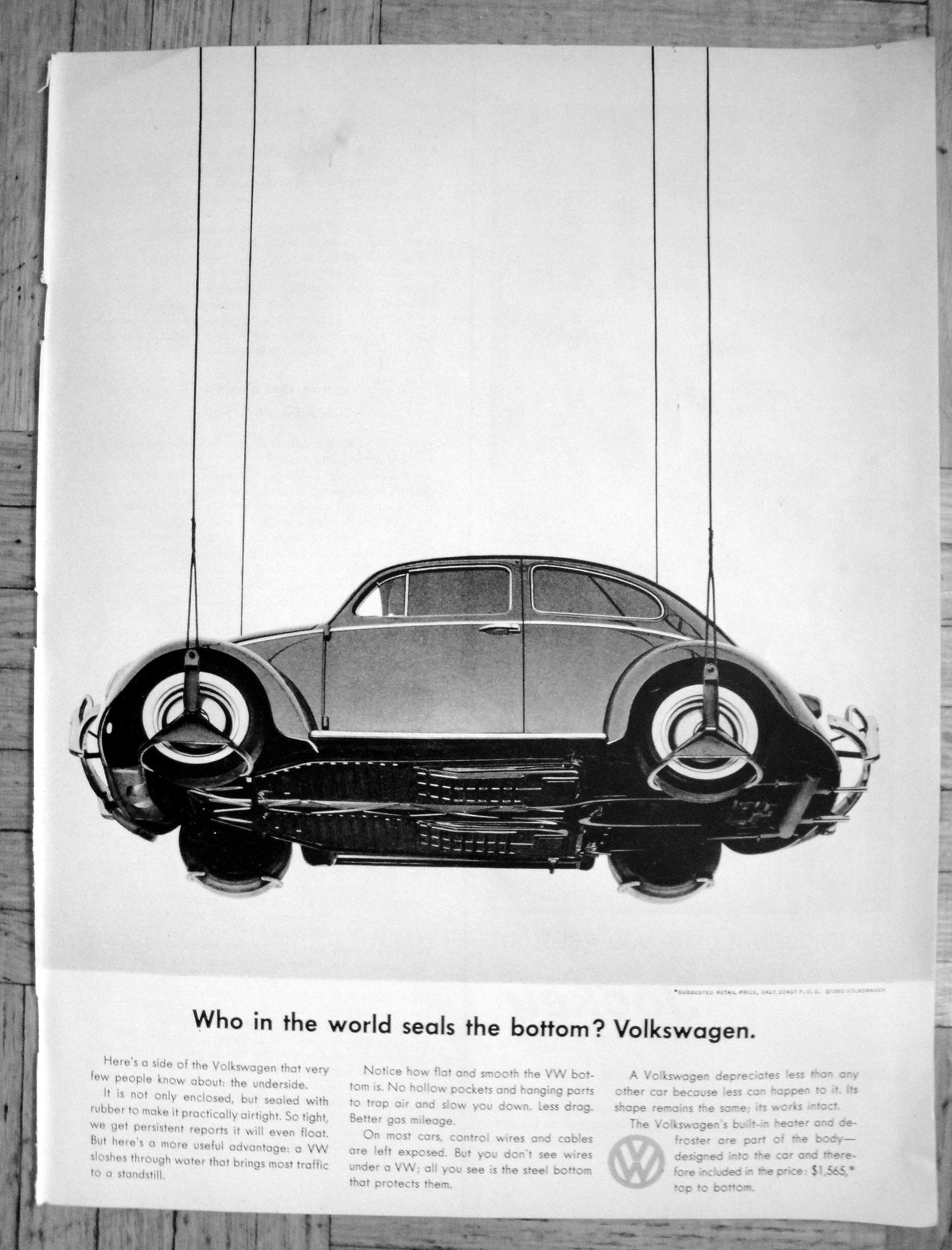 1960 Vw Beetle Who Seals The Bottom Bug Volkswagen Original Etsy