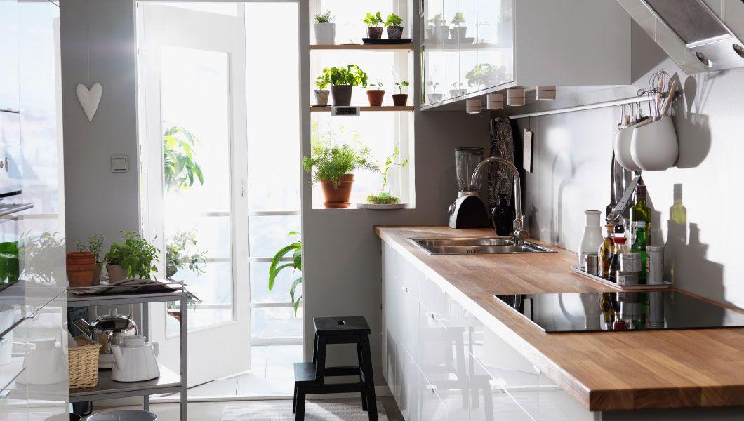 Cuisine Ikea Blanche Faktum Façade Abstrakt Blanc Avec Plan De