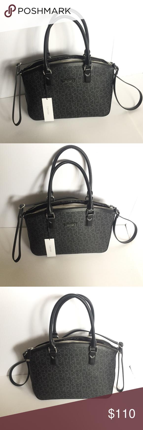 2bf76804c86 Spotted while shopping on Poshmark: NWT Calvin Klein CK Signature Handbag  Purse Black! #poshmark #fashion #shopping #style #Calvin Klein #Handbags