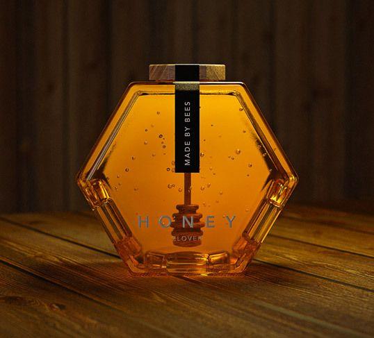 lovely package hexagon honey 1 — Designspiration