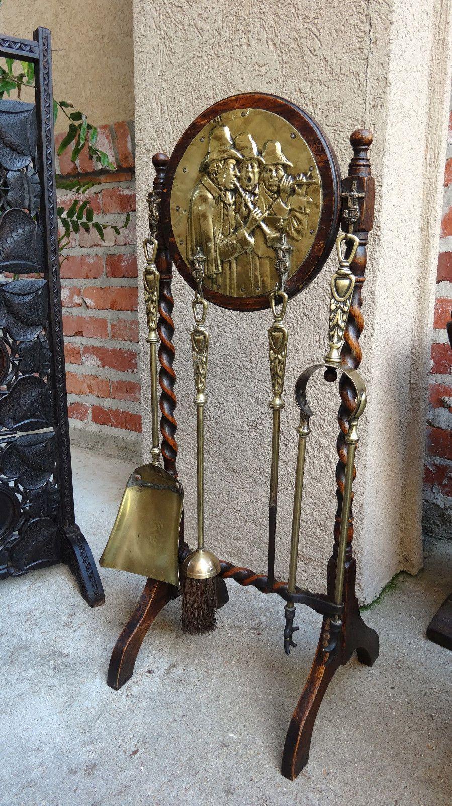 Best Living Room Fireplace Tools Antiques Barley Twist 400 x 300