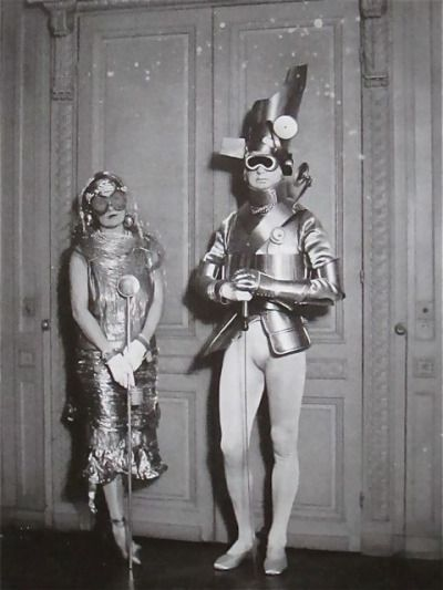 Sara and Gerald Murphy at Compte Étienne de Beaumont's Automotive Ball, 1924. Photo by Man Ray.