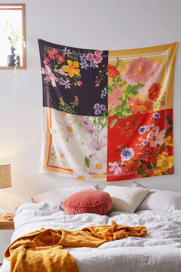 Brynn Spliced Floral Tapestry images