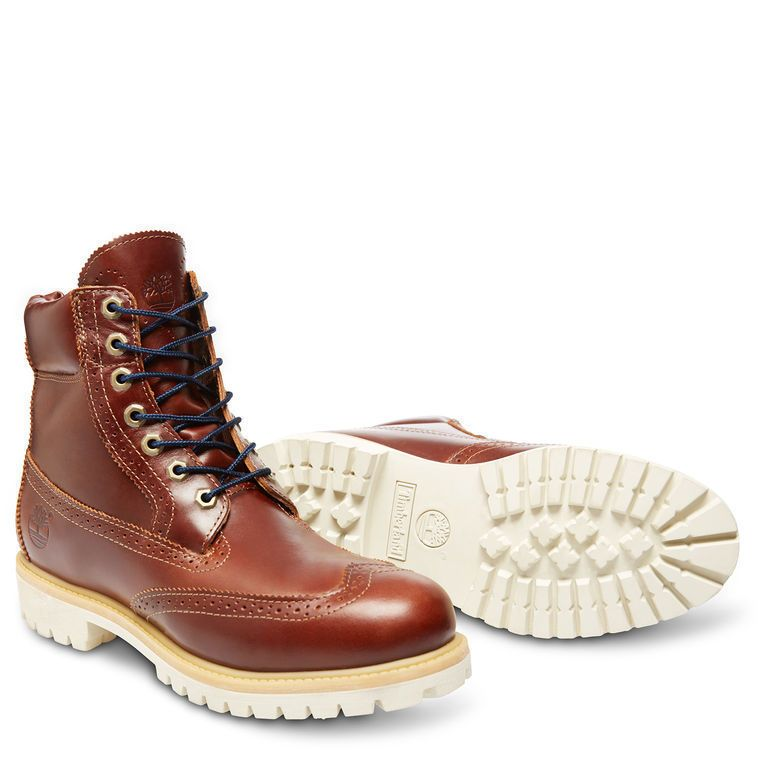 TIMBERLAND 6-Inch Chestnut Quartz Brogue Brown Waterproof Boot 6