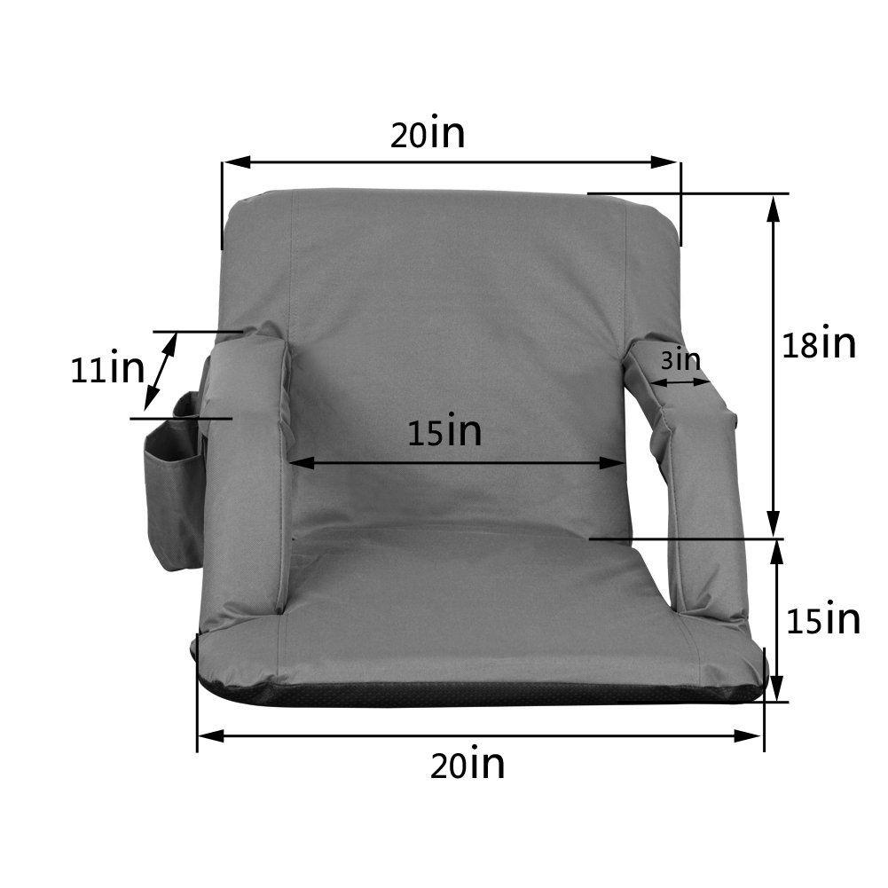 Sundale Outdoor Indoor Adjustable Floor Chair FivePosition