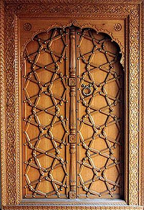 Islamic art and architecture islamic architecture in for Wood doors design in pakistan