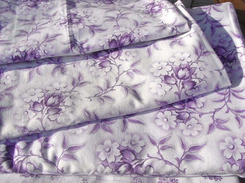 Romantic Peasant Bedding Bedding For 1 Bed Purple Floral Patchwork Quilt Floral Fabric For Maid Pillow Curtains Cotton Curtains Lavender Bags Floral Fabric