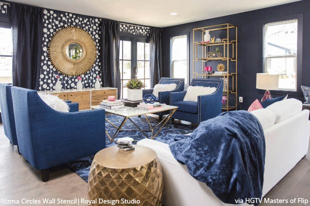 Royal Design Studio Wall Stencils On Hgtv Masters Of Flip With