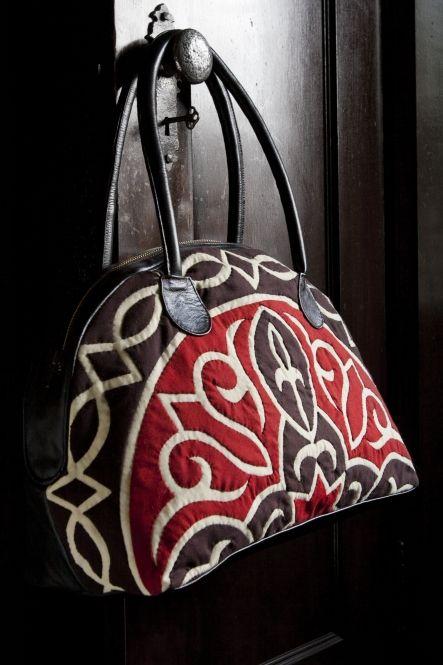 Bag features an adaptation of the 'khayameya' pattern