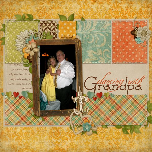Dancing With Grandpa The Shabby Shoppe Scrapbooking Gallery