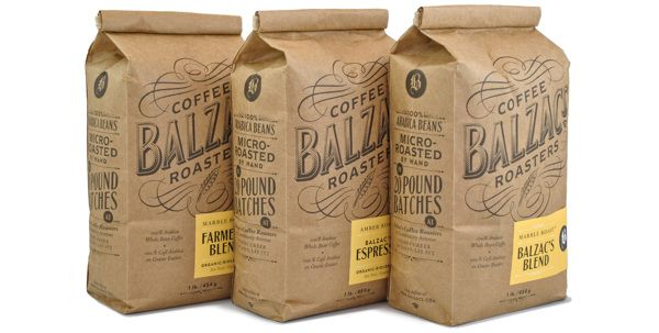 Balzac's Coffee Roasters by Chad Roberts, via Behance