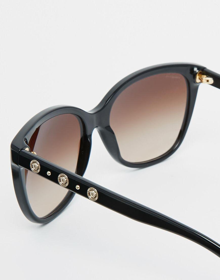 Asos Sonnenbrille rund schwarz silber Blogger grau retro sienna 8IL81
