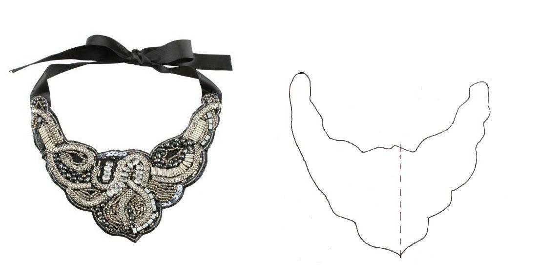 Top 6 patrones collar babero descargables | Pinterest | Beaded ...