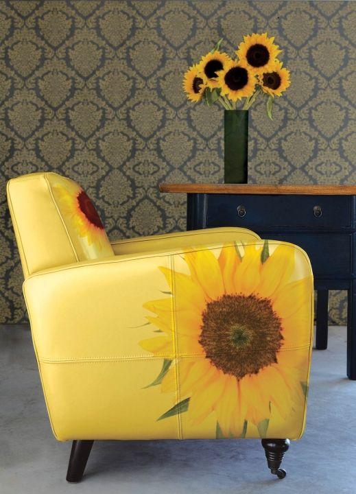 exceptional einfache dekoration und mobel sunflower chair 2 #1: sunflower chair. SonnenblumenEinfachSonnenblumenzimmerSonnenblumen  DesignSonnenblumenhausMöbelstühleBemalte MöbelBequemer StuhlSchaukelstühle