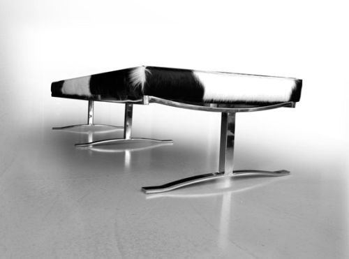 There Were Passion Begins Bauhaus Cow Leather Bench eBay