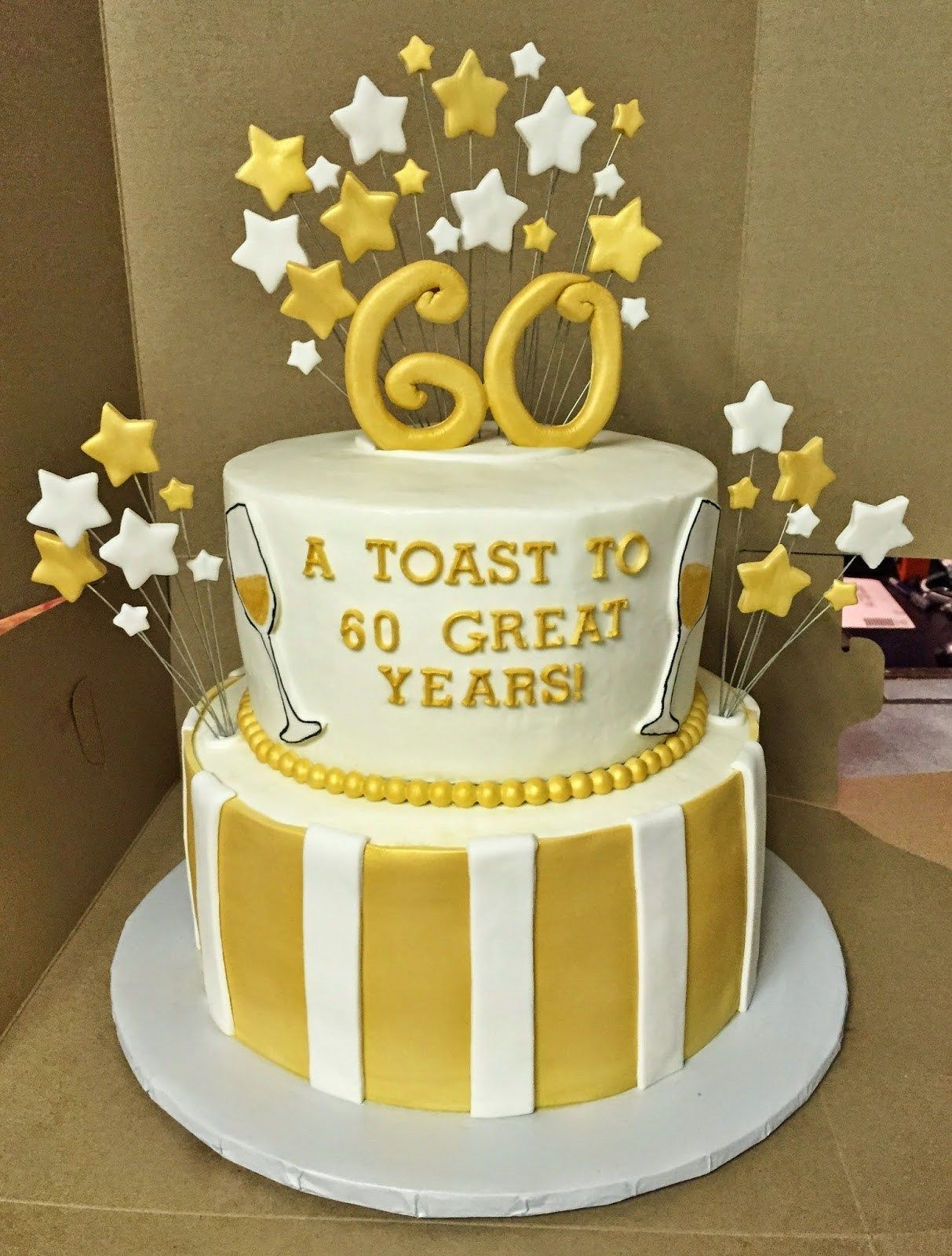 30 Exclusive Picture Of Gold Birthday Cake With Images 60th