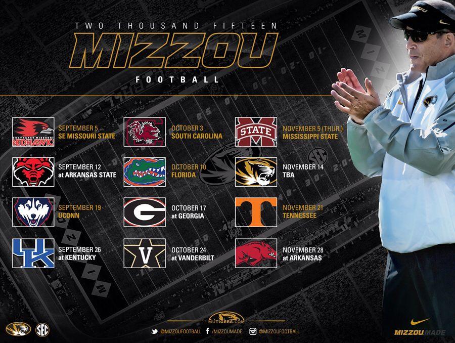 2015 Mizzou Football Schedule University of missouri
