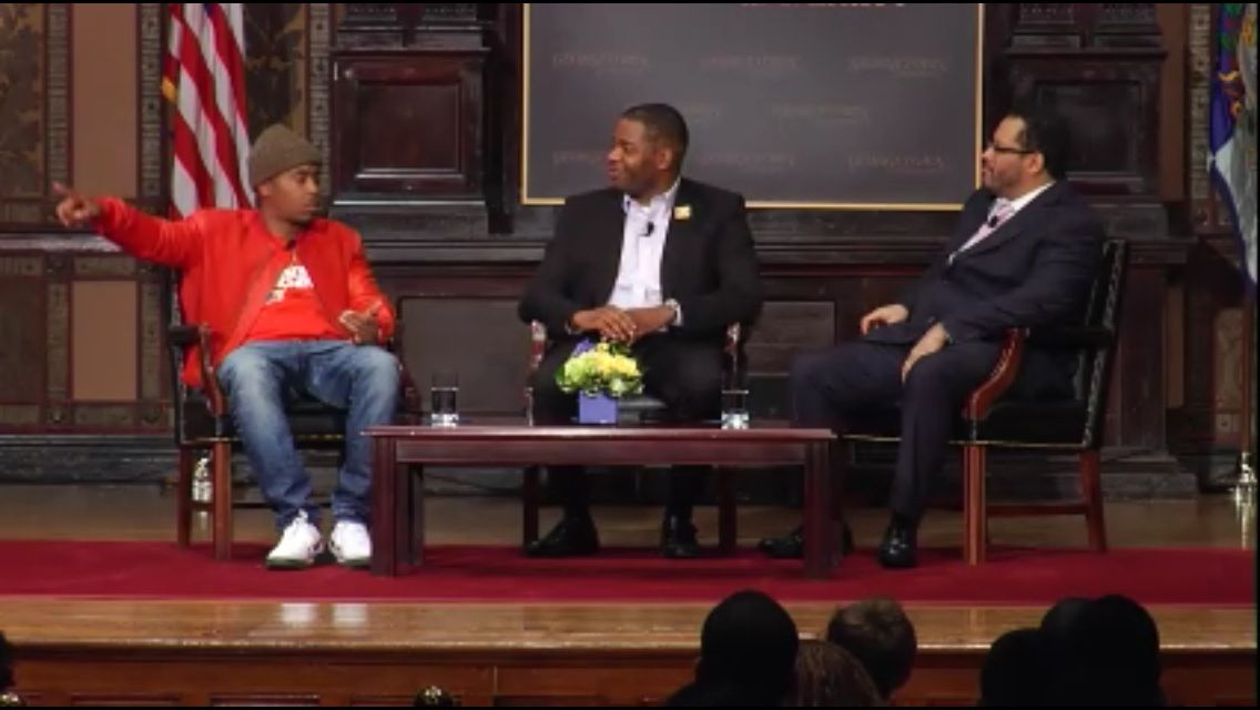 Genius meets Genius, again.  Nas and Dr. Michael Eric Dyson, March 26, 2014