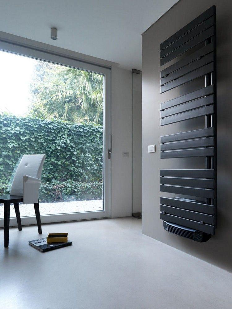 Radiateur électrique design- 50 idées salle de bains et salon - Peindre Un Radiateur Electrique
