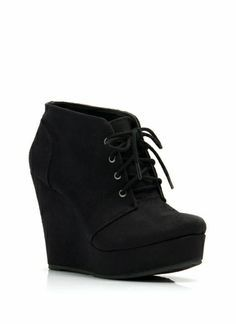 19fd7d79ae7c Faux Suede Platform Wedge Booties www.louboutinboots.at.nr Fashion high  heels