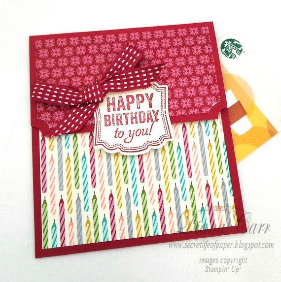 Happy Birthday Gift Card Holder Via Etsy Birthday Milestone Gift