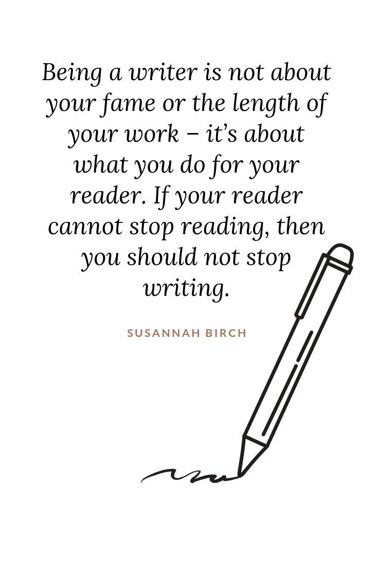 What Is A Writer? - Susannah Birch