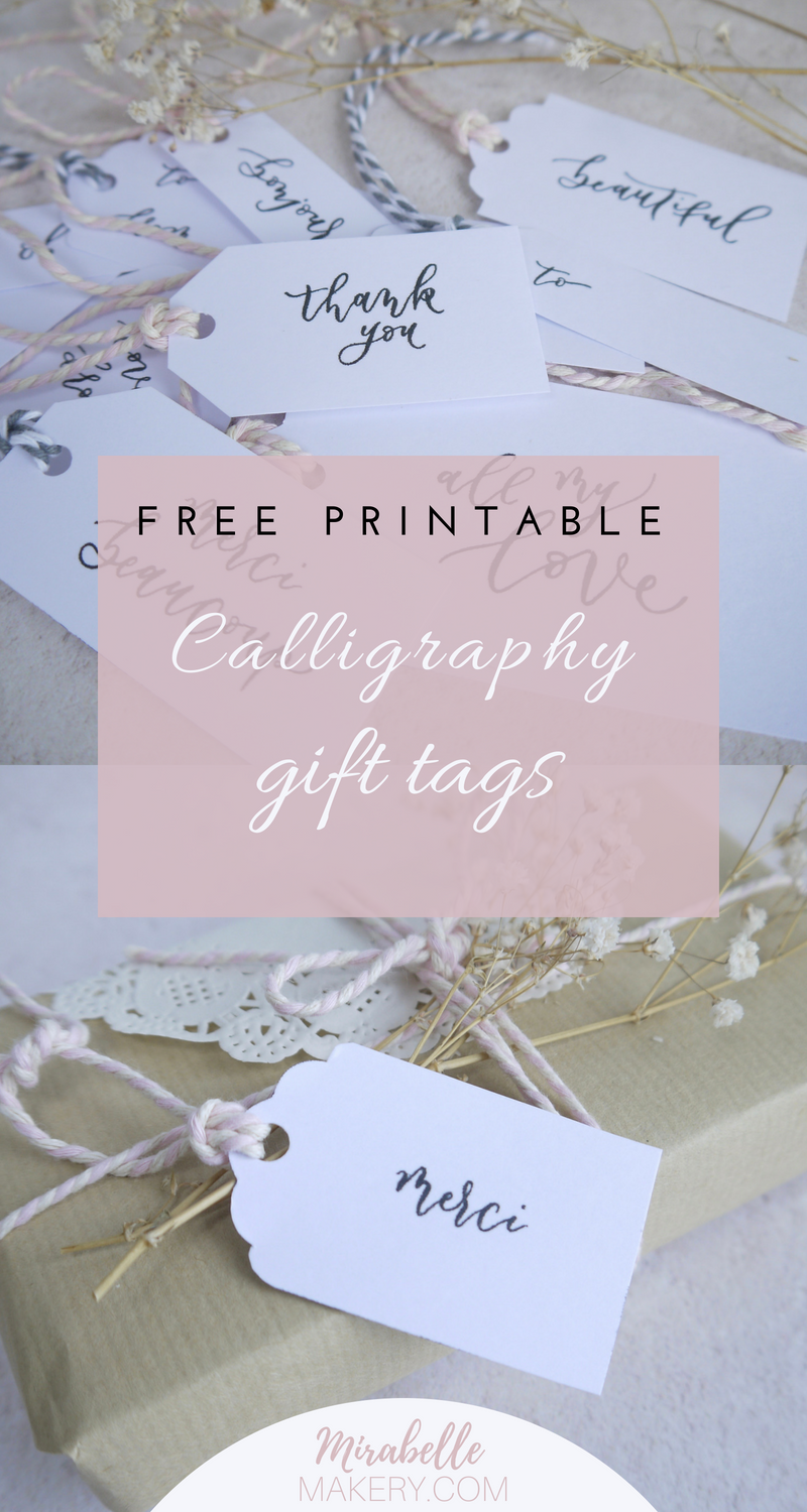 Free printable gift tags to DIY for adding some shabby chic style to ...