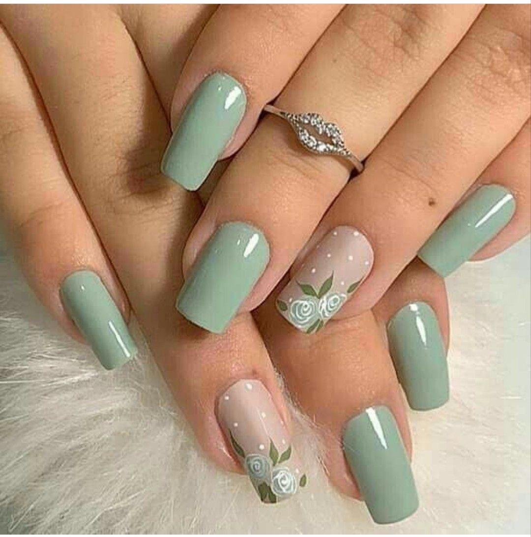 Pin de Emily Garces en decoracion de uñas   Uñas turquesas ...