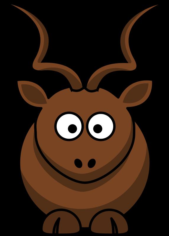 Free Clipart Cartoon Kudu Animals Martouf Antelope Animal Cartoon Art Animals