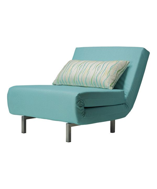 Look at this Aqua Savion Convertible Accent Chair Bed on #zulily today!