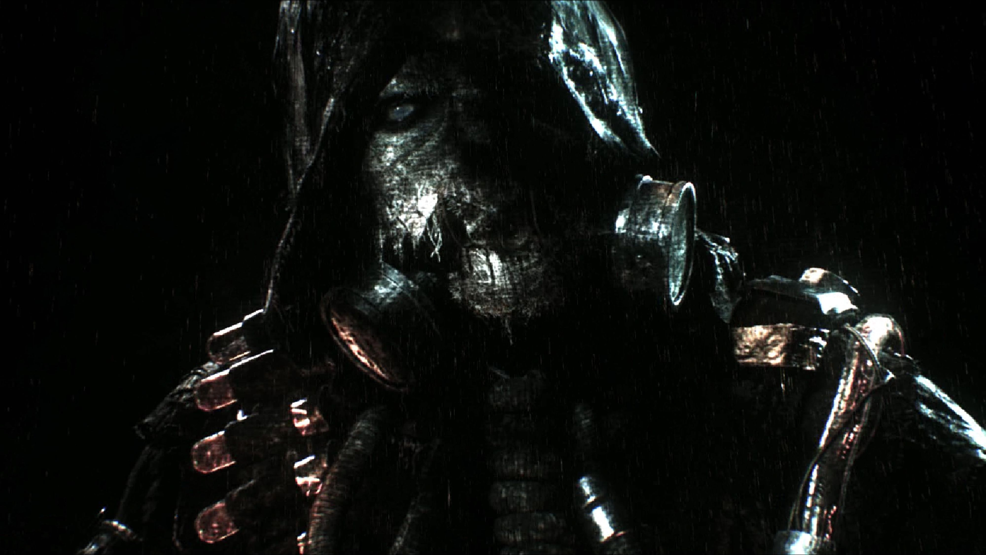 Batman: Arkham Knight, Scarecrow delivers his warning to Gotham.