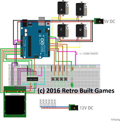 Schematic Diagram for Arduino Based Vending Machine