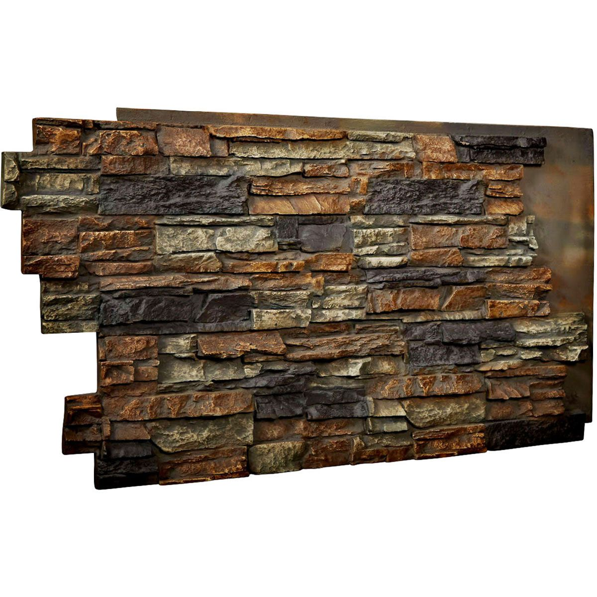 48 Inch W X 25 Inch H X 1 1 2 Inch D Stacked Endurathane Faux Stone Siding Panel Redstone Faux Stone Panels Stone Wall Panels Stacked Stone Walls